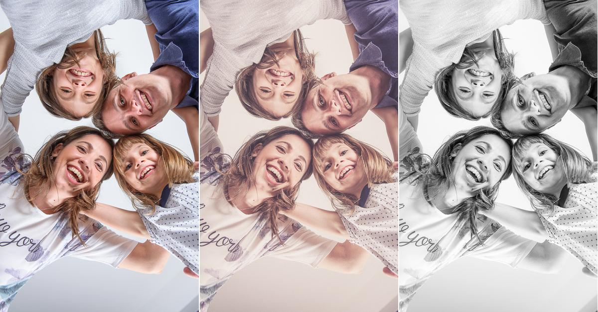 O familie în trei tonuri