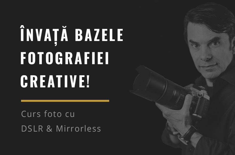 Curs foto cu dslr sau mirrorless pentru incepatori in Timisoara, Romania