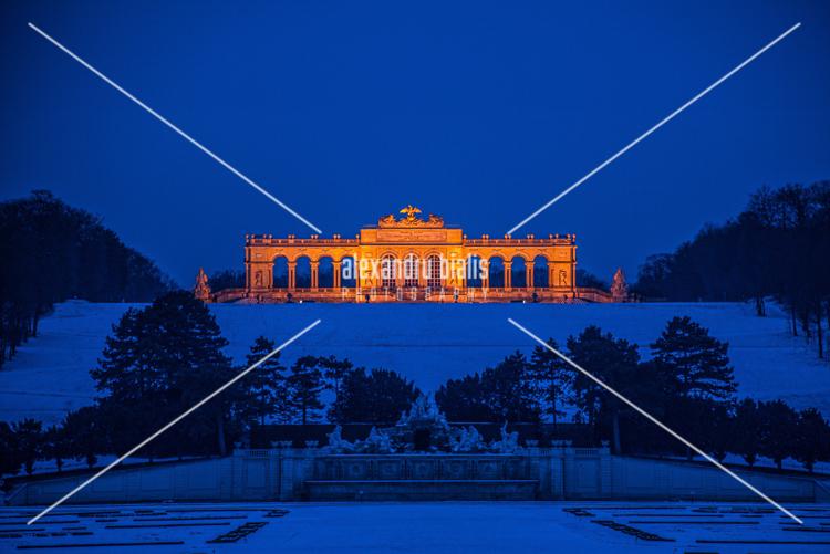 personal-work-Gloriette by night-Schonbrunn-Austria_